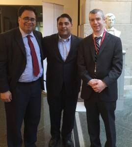 Dr. Kharrazian with Harvard Medical School Associate With Harvard Medical School Dean Dr. Ajay Singh and Professor Finnian McCausland.